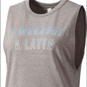 Under Armour I Work Out A Latte Muscle Tank